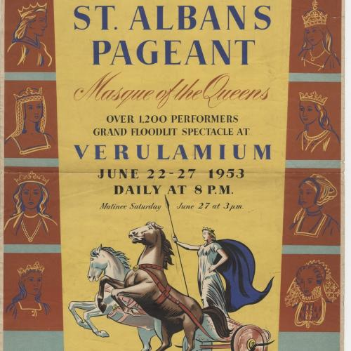 St Albans Pageant Poster 1953