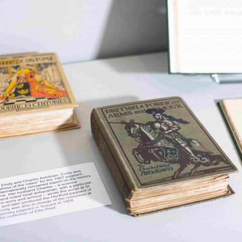 Pageant Fever - exhibition (Pageant books by Emily 7 Charles Ashdown on display)