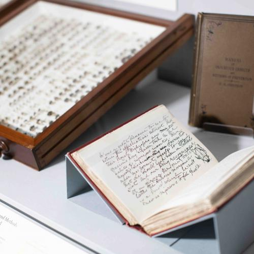 Insect display case & Manual of Injurious Insects and Methods of Prevention by E.A. Ormerod