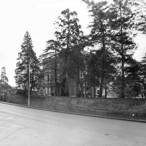 Photograph of Torrington House where Ormerod lived with her sister from 1887 until her death in 1901. This photograph was taken for the St Albans Street Survey in 1964.