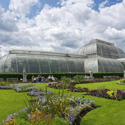 Palm House at Kew Gardens. The gardens became a National Botanical Garden in 1840.