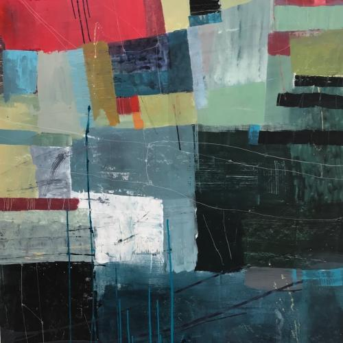 Landscape II, colorful abstract painting