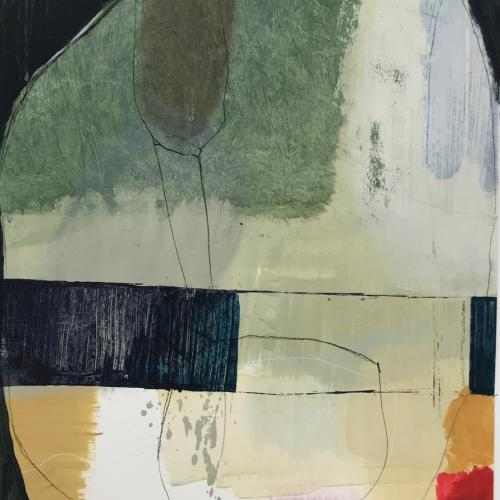 Study II, colorful abstract painting