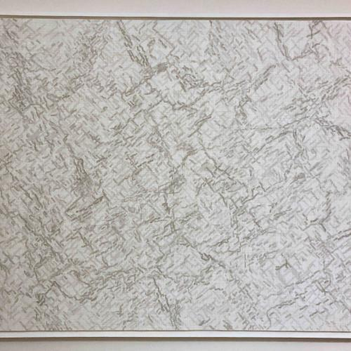 Movement, abstract graphite drawing on white board