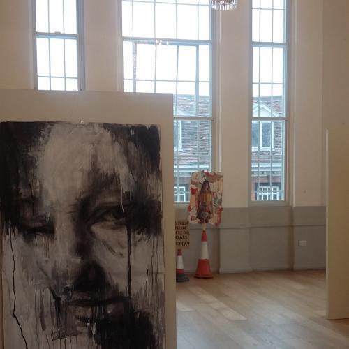 """Adem"" Portrait in Acrylic + Charcoal"