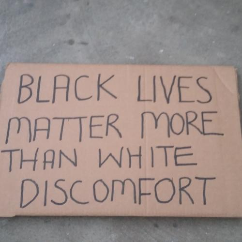 Black Lives Matter More than White discomfort