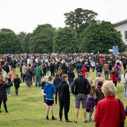 St Albans Black Live Matters protest in Verulamium Park
