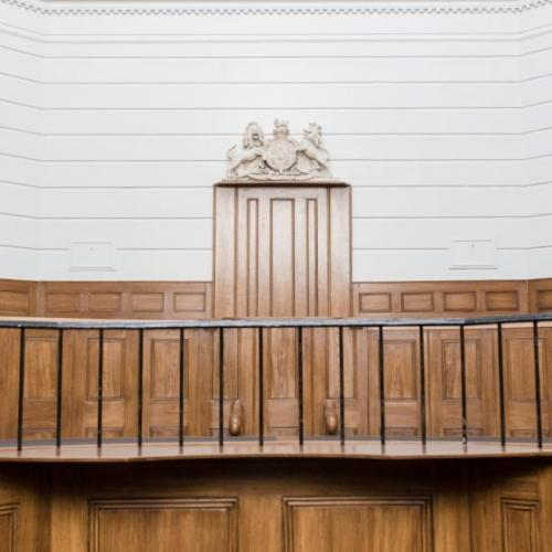 The courtroom in St Albans Museum + Gallery