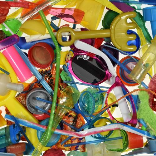 Southend Beach Rubbish Project (May), photography of colorful plastic items