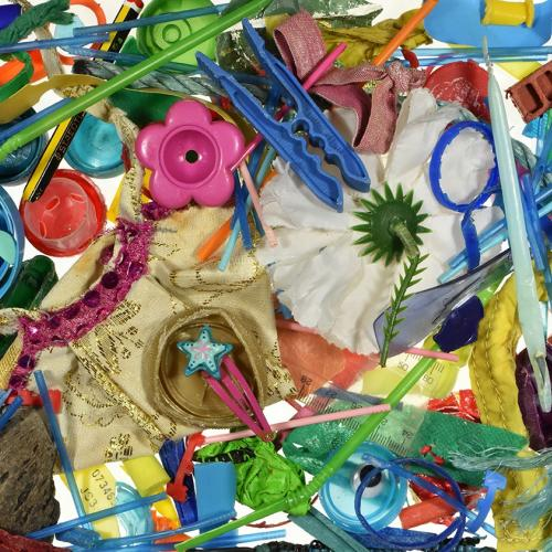 Southend Beach Rubbish Project (October), colourful plastic beach items