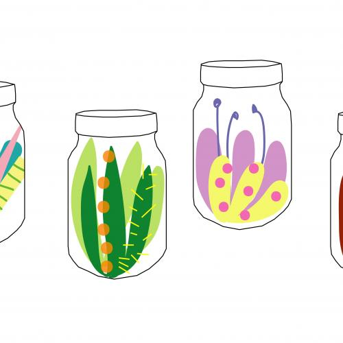 Pickling Project creature in a jar activity