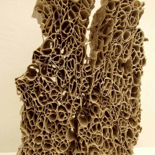 Breath, mineral-like sculpture