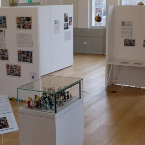 Lockdown Life exhibition showing case of miniature figures