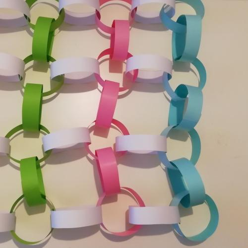 Paper chain mail