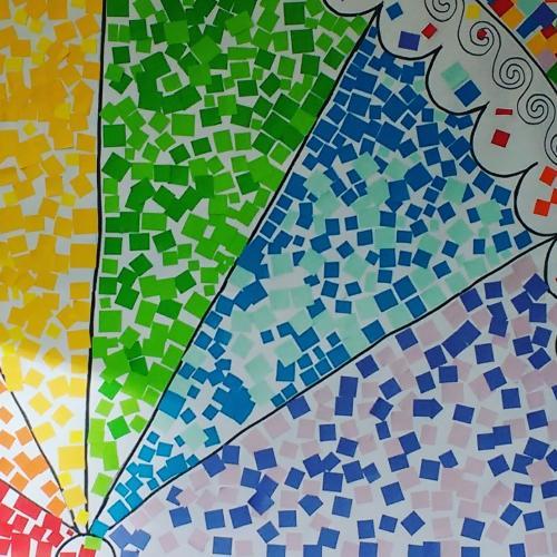 Paper mosaic activity