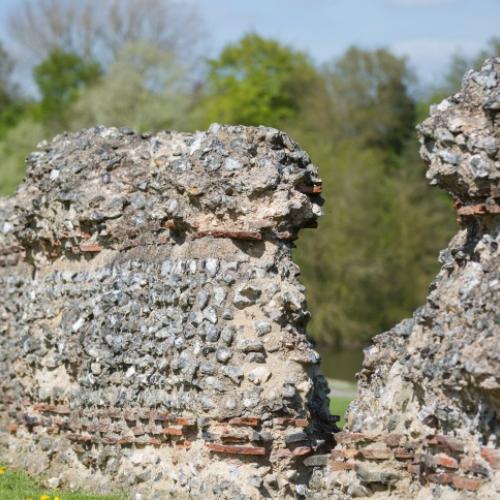 Roman wall, Verulamium Park
