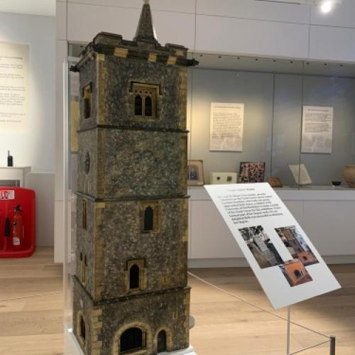 An exact scale model of St Albans Clock Tower