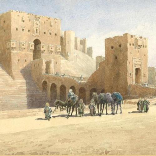 Aleppo, Syria-gateway of Citadel