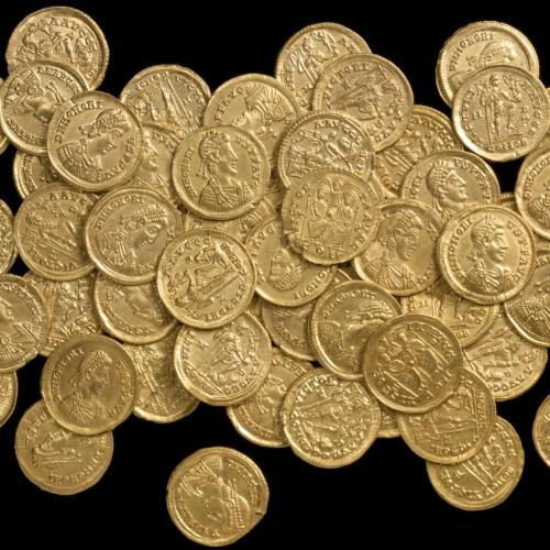 A Collection Of Gold Coins Found In A Village Near St Albans Called Sandridge