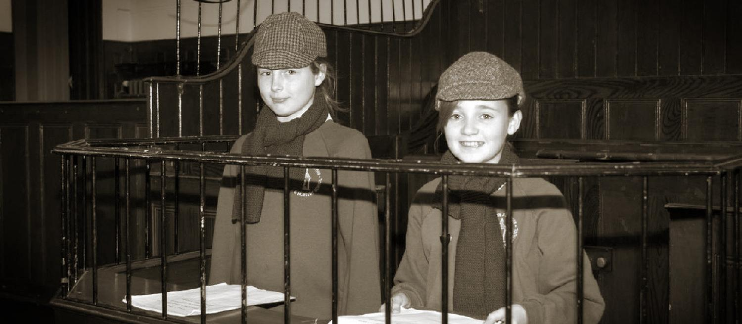 Children standing in the dock