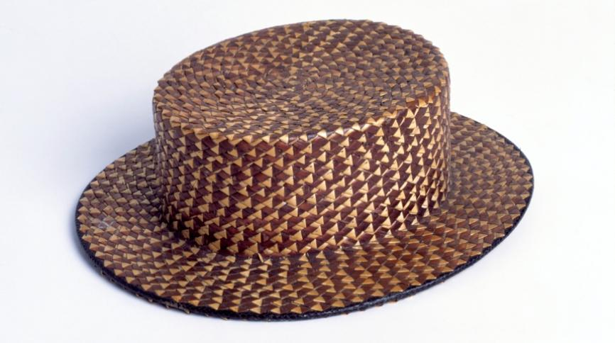 a straw hat made in St Albans