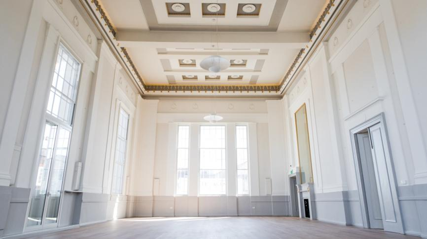 Assembly Room inside St Albans Museum + Gallery