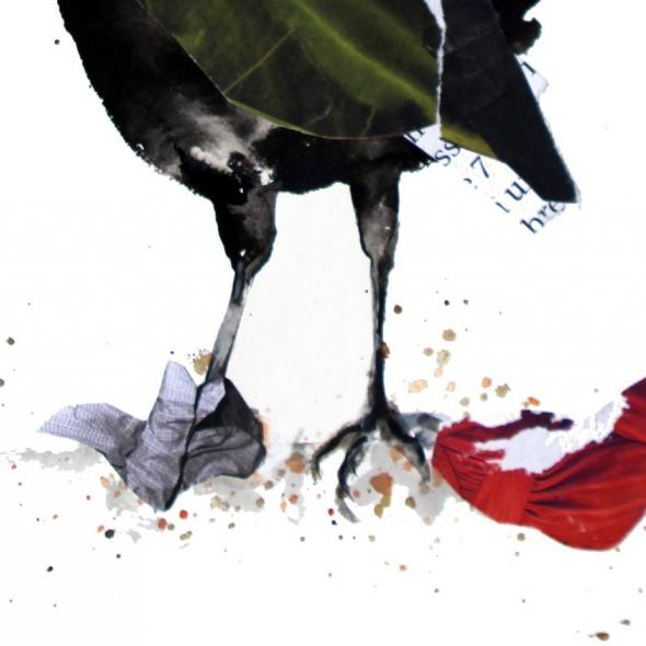 Detail from Crow by Nina Fraser