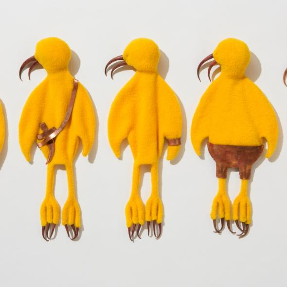Detail from Yellow Birds by Permindar Kaur