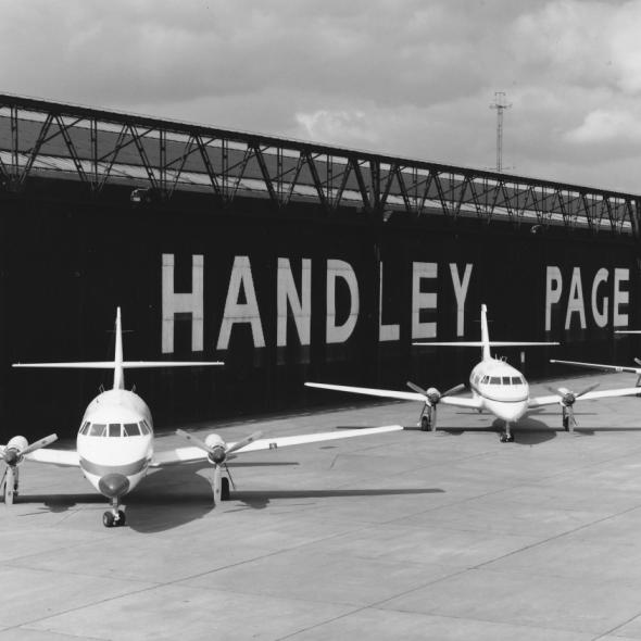 Handley Page aircraft hangers at the Radlett Aerodrome