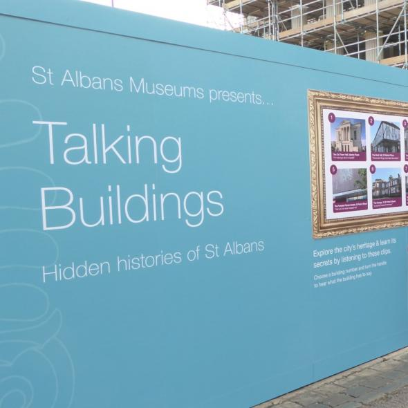 Talking Buildings installation