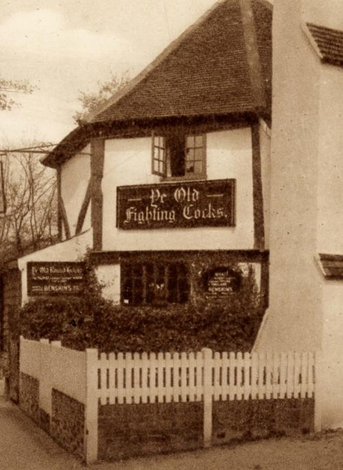 monochrome image of a pub